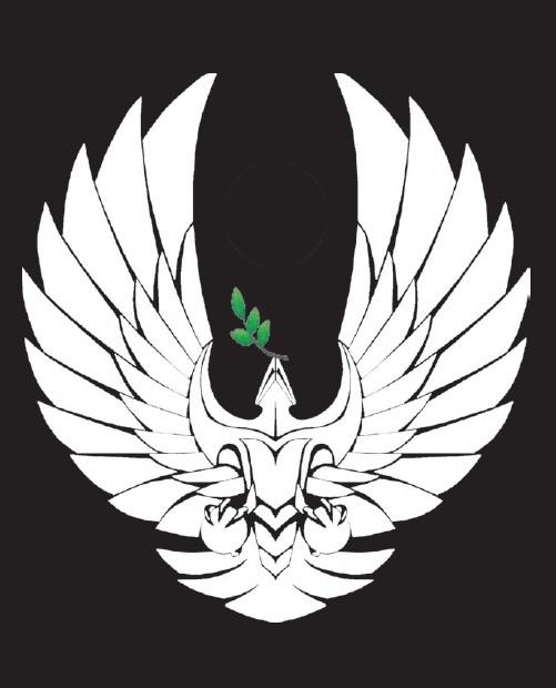 Der romulanische Raptor trägt einen Olivenzweig als Friedenssymbol